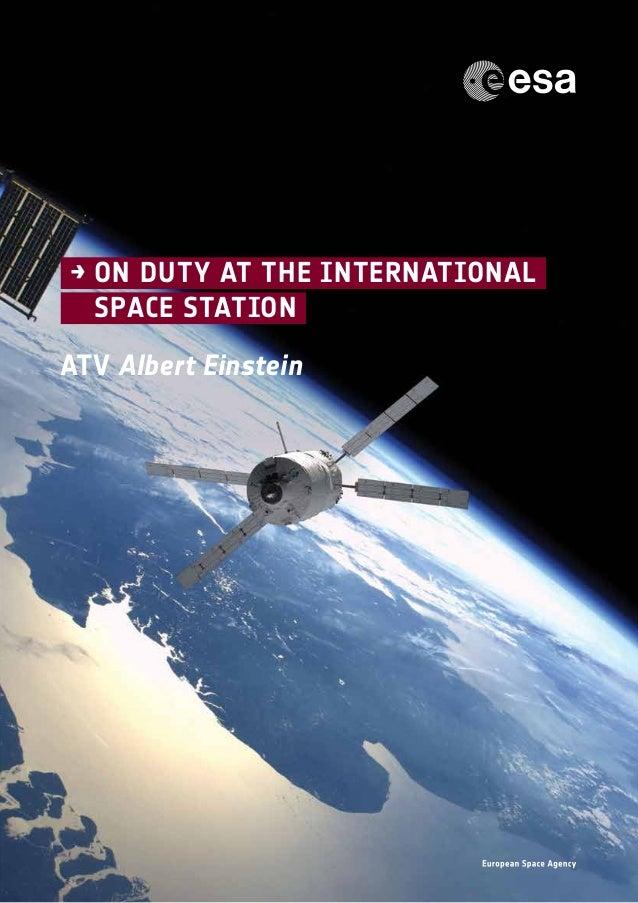 1ATV Albert Einstein→on duty at the International Space Station