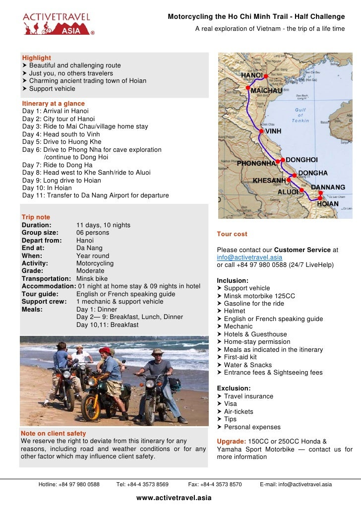Motorcycling tour the Ho Chi Chi Trail in Vietnam