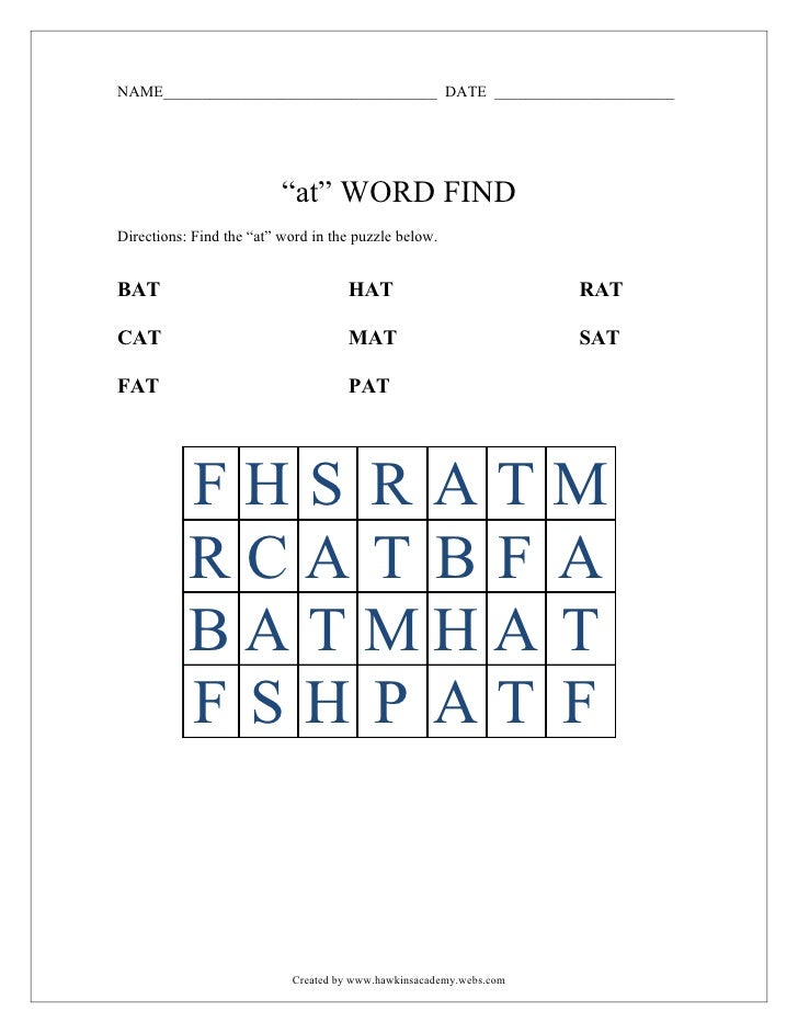 """AT"" word find"