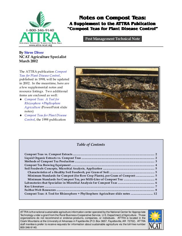 APPROPRIATE TECHNOLOGY TRANSFER FOR RURAL AREAS www.attra.ncat.org ATTRA is the national sustainable agriculture informati...