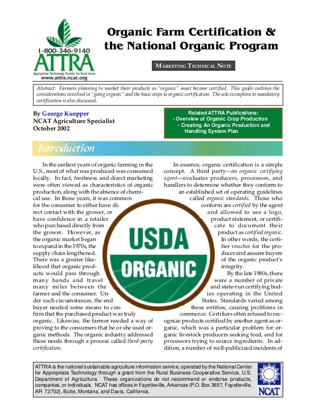 ATTRA is the national sustainable agriculture information service, operated by the National Center for Appropriate Technol...