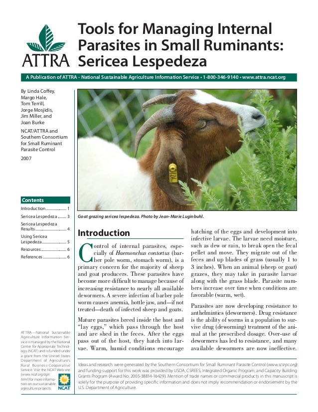 Tools for Managing Internal Parasites in Small Ruminants