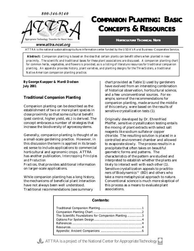 Companion Planting: Basic Concepts & Resources
