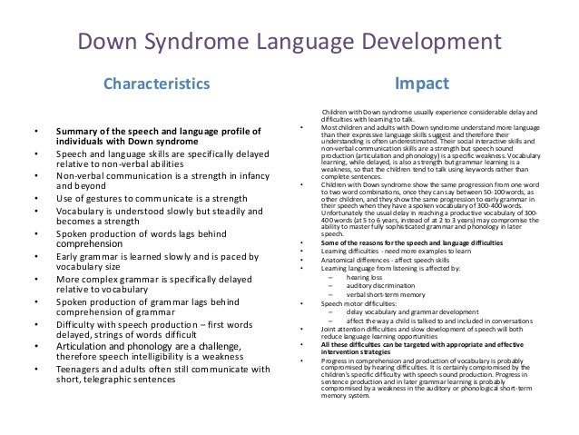 Down syndrome essays