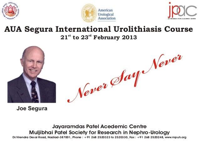 AUA Segura International Urolithiasis Course