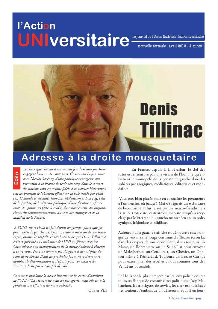 l'Action   UNIversitaire                                                                Le journal de l'Union Nationale In...
