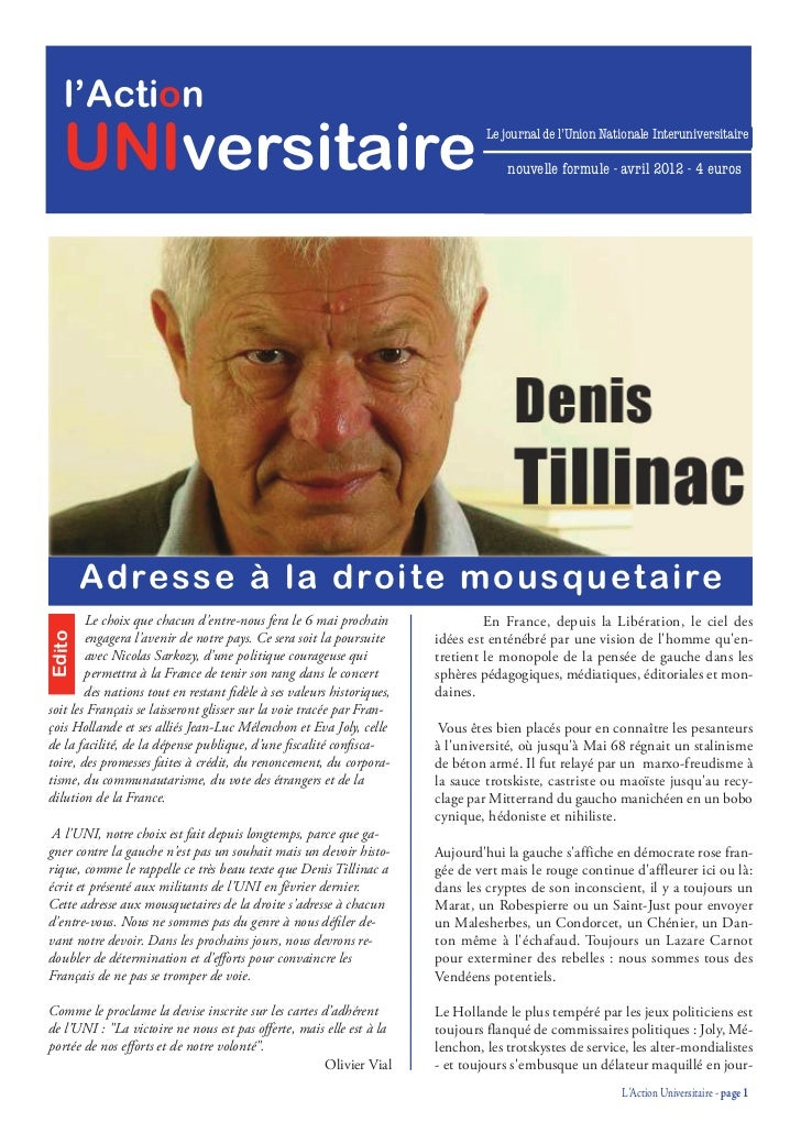 Action Universitaire avril 2012
