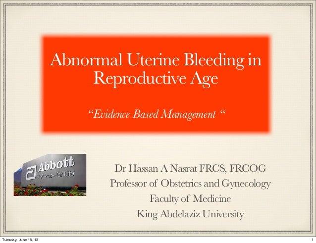 Abnormal Uterine Bleeding -Update