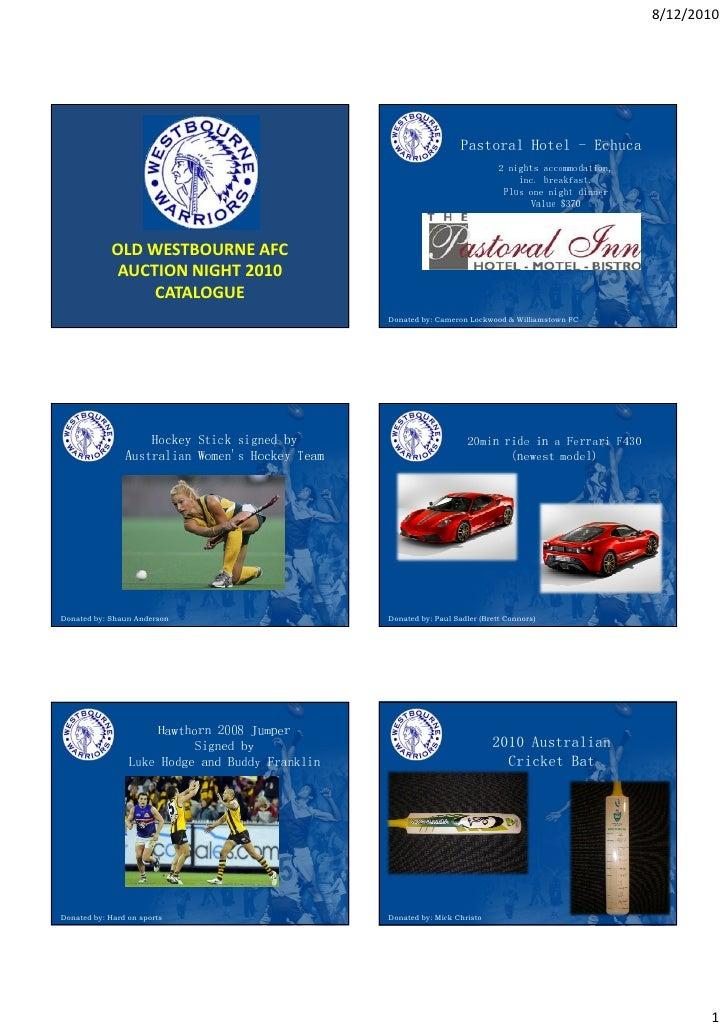 Westbourne Auction Catalogue