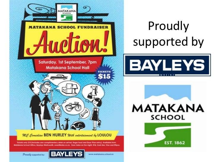 Matakana School Auction Thank You