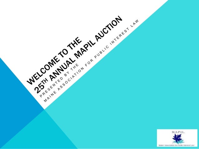 MAPIL Auction PowerPoint 4 3 13