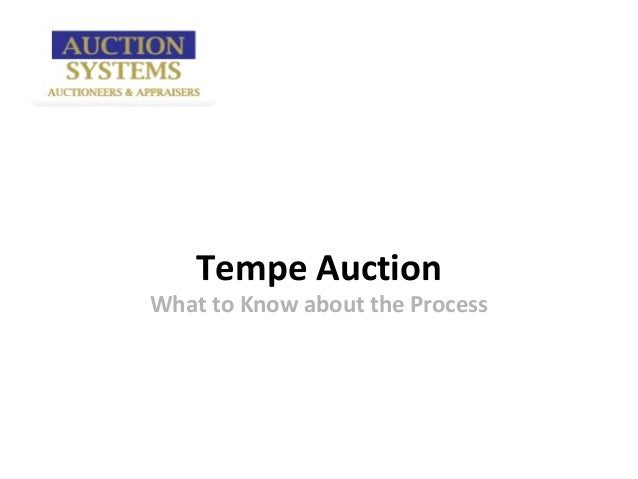 Tempe AuctionWhat to Know about the Process