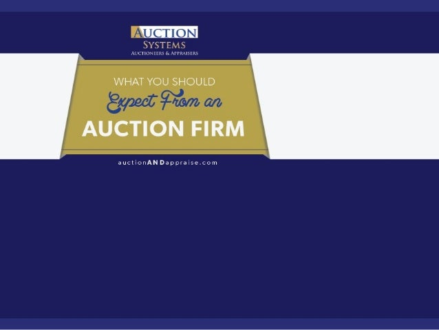 What You Should Expect from an Auction Firm