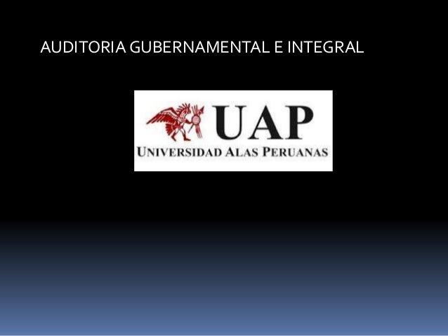 AUDITORIA GUBERNAMENTAL E INTEGRAL