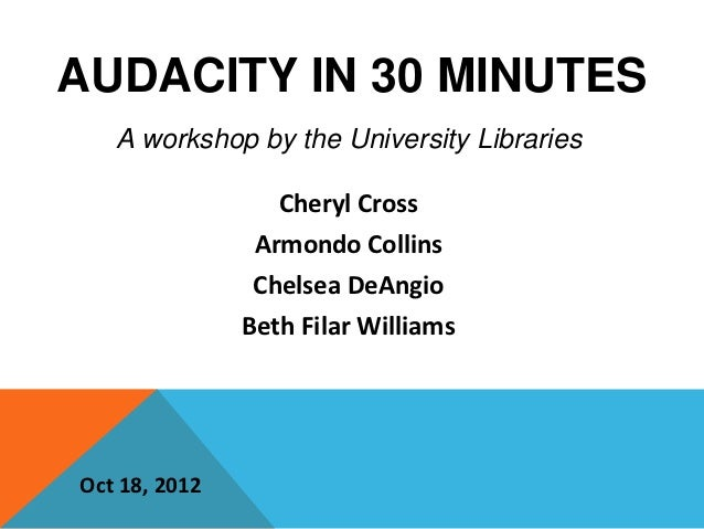 Audacity in 30 minutes
