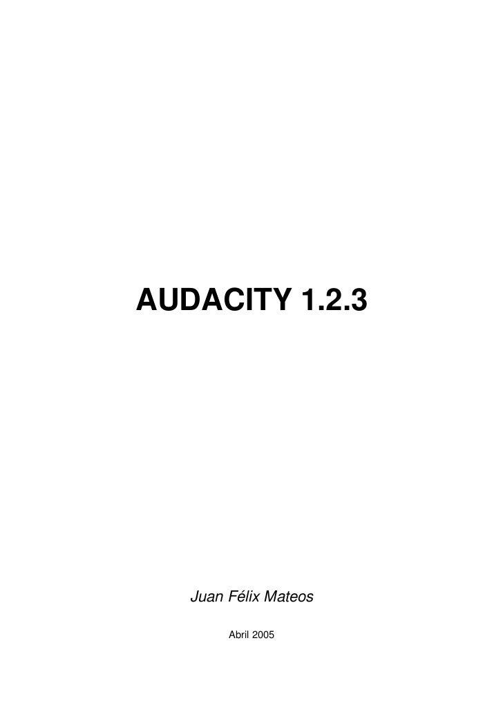 Audacity+manual