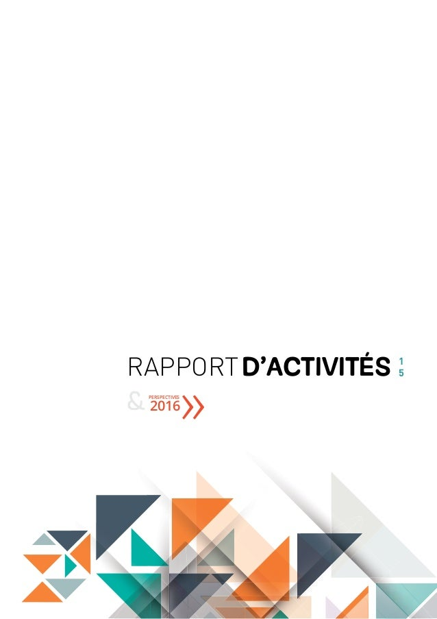 RAPPORTD'ACTIVITéS 1 5 PERSPECTIVES & 2016