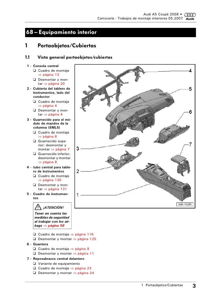 Audi A5 coupe 2008 Trabajos de montaje interiores.pdf