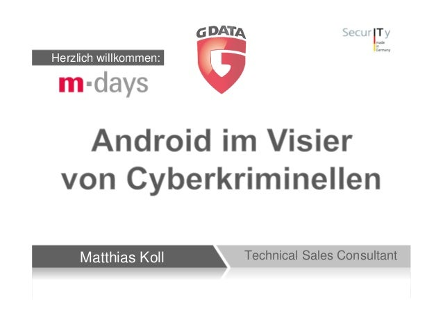 Herzlich willkommen:     Matthias Koll     Technical Sales Consultant