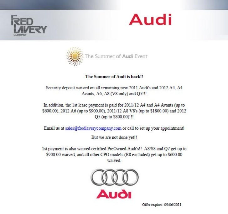 Audi Auto Sale Specials MI | Audi Dealer near Detroit