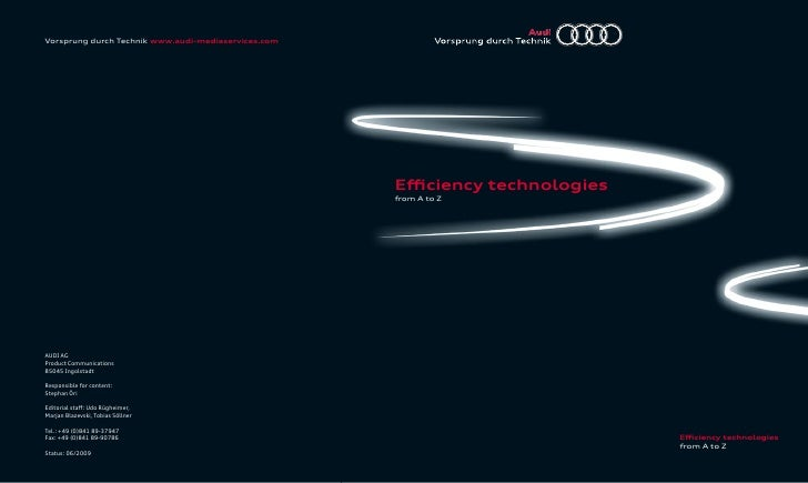 Audi  Efficiency  Technologies From  A To  Z