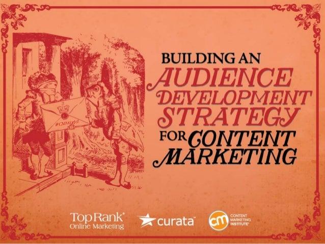 Audience Development for Content Marketing eBook #CMWorld