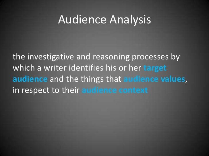 Audience Analysis Slides