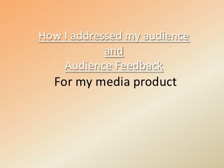 Audience Feedback[1]