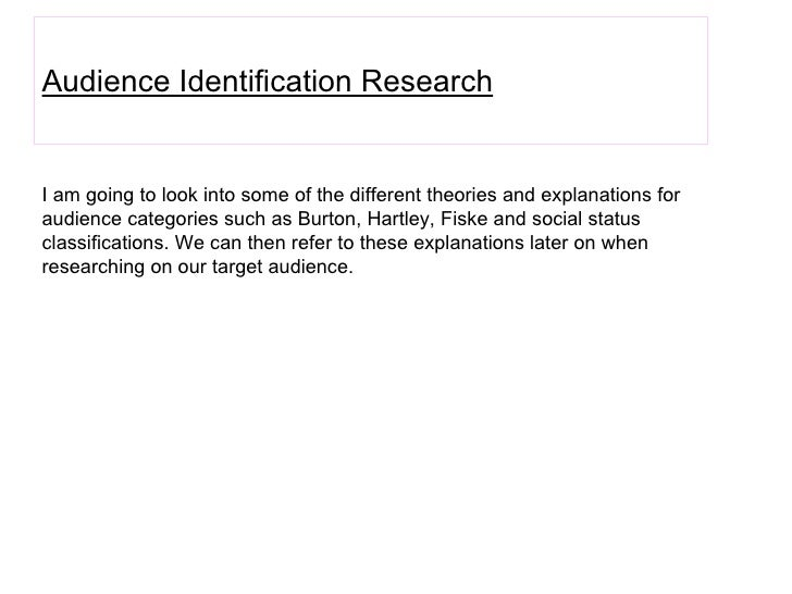 Audience Identification Research