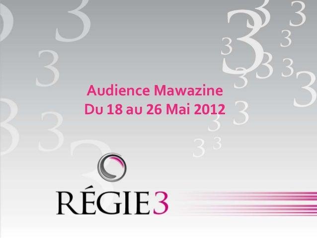 Audience MawazineDu 18 au 26 Mai 2012