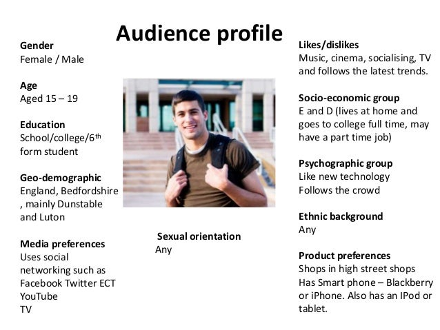 audience profiling - Template