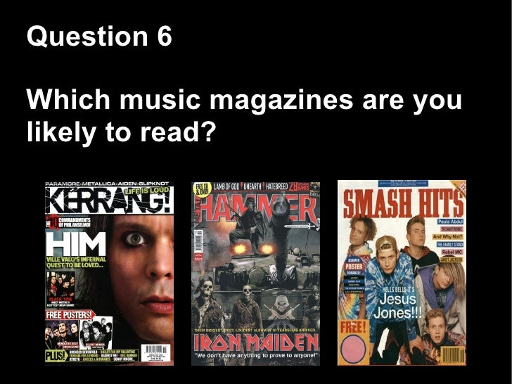 Music magazine questionnaire for rock/metal fans for survey, please help?