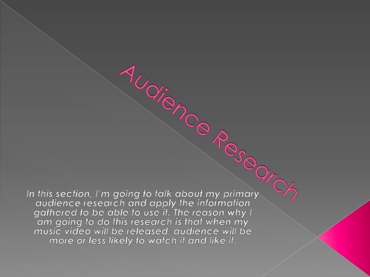 Audience research  presentation