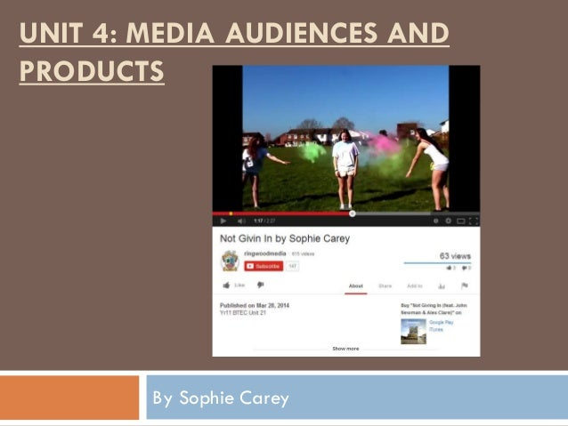 UNIT 4: MEDIA AUDIENCES AND PRODUCTS By Sophie Carey