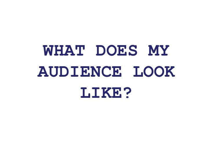 Audience Profile: