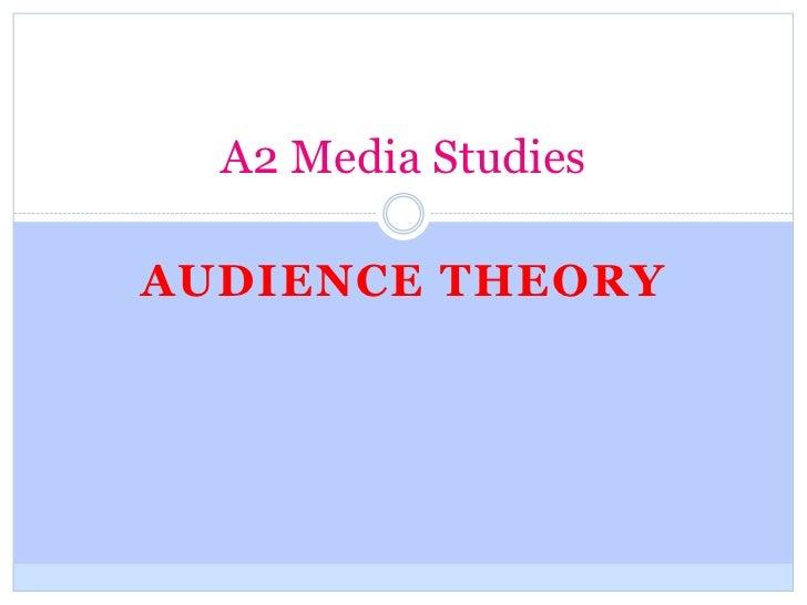 A2 Media StudiesAUDIENCE THEORY