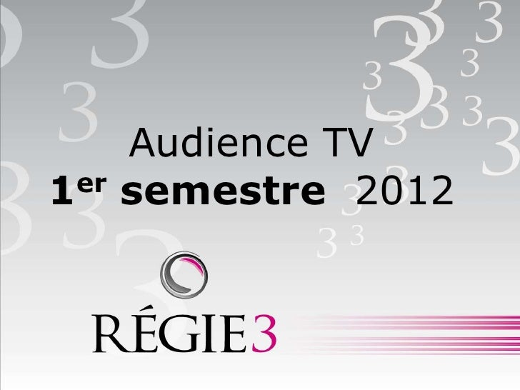 Audience TV1 er   semestre 2012