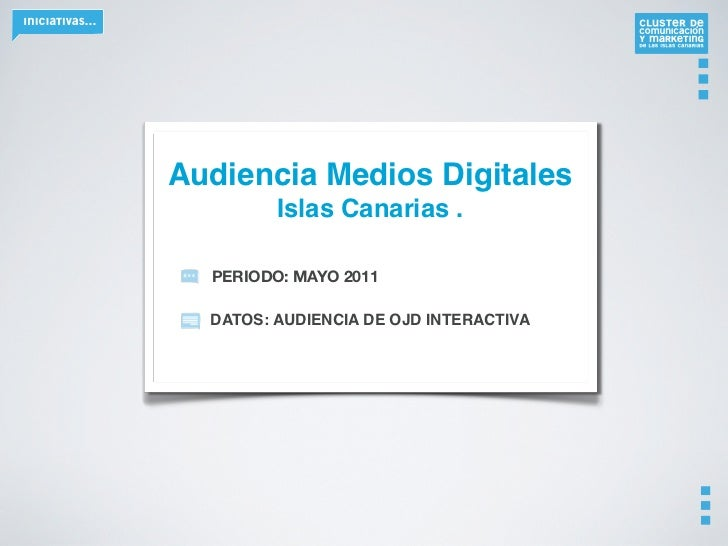 Audiencia medios digitales   mayo 2011