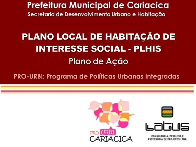Audiência Pública Pró Urbi Cariacica
