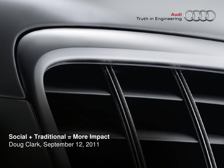 Audi gravity summit presentation 091211 1