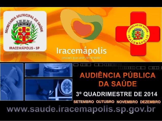 Secretaria de Saúde - Regulação Procedimento Setembro Outubro Novembro Dezembro Total Alergista - - 4 - 4 Audiometria tona...