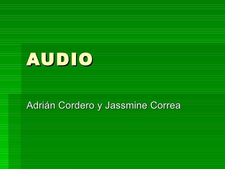AUDIOAdrián Cordero y Jassmine Correa