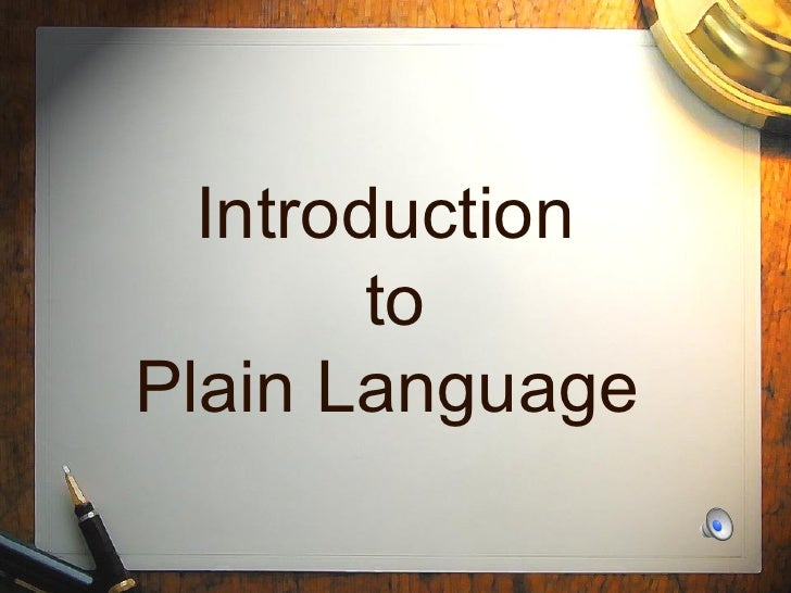 Plain English Overview