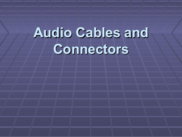 Audio Video Connector