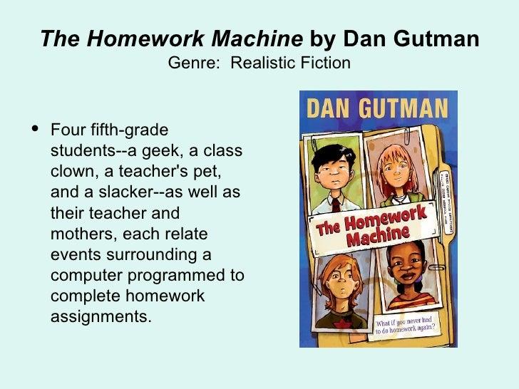 The homework machine characters