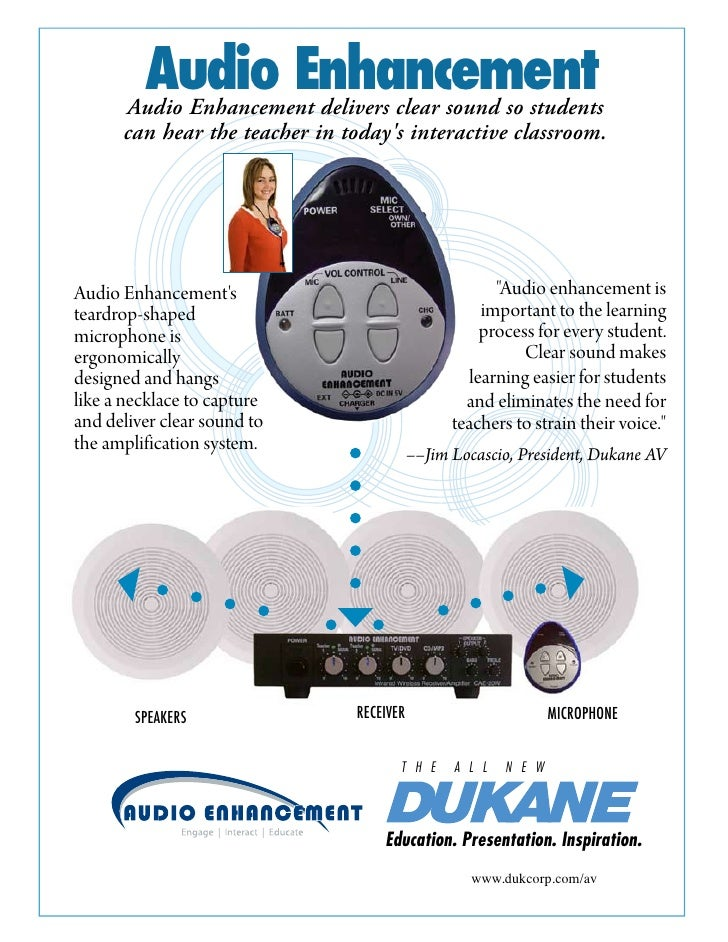 Audio Enhancement        Audio Enhancement delivers clear sound so students       can hear the teacher in today's interact...