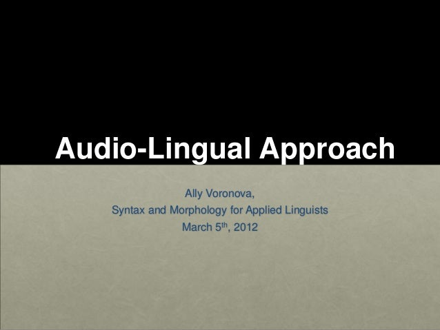 Audio linguial method