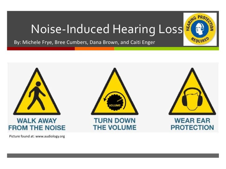              Noise-Induced Hearing Loss   By: Michele Frye, Bree Cumbers, Dana Brown, and Caiti EngerPicture found at: ww...