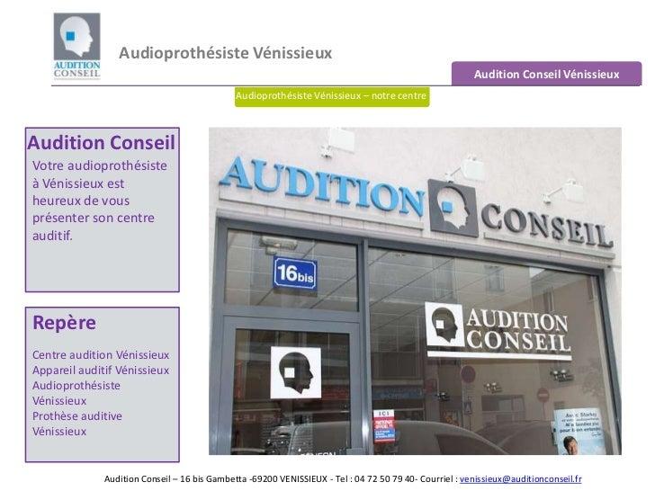 Audioprothésiste Vénissieux <br />Audition Conseil Vénissieux<br />Audioprothésiste Vénissieux – notre centre<br />Auditio...