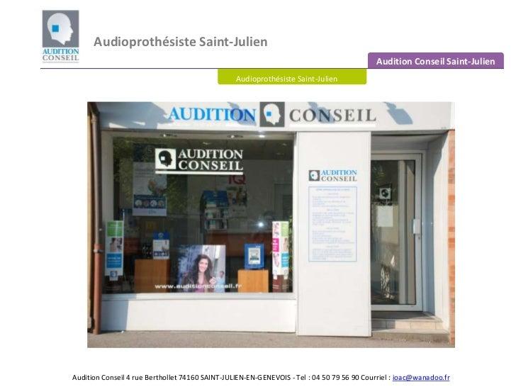Audioprothésiste Saint Julien en Genevois - Centre auditif Saint Julien en Genevois